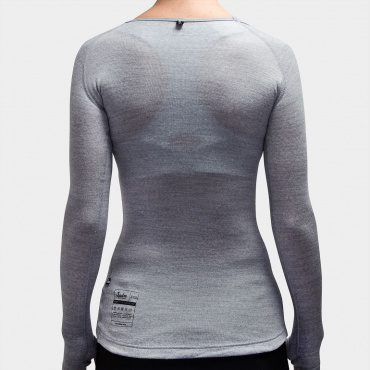 Damen 100% Merino LS Baselayer Grey