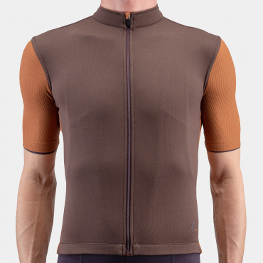 Signature Cycling Jersey Seal Brown/Argan Oil 2.0